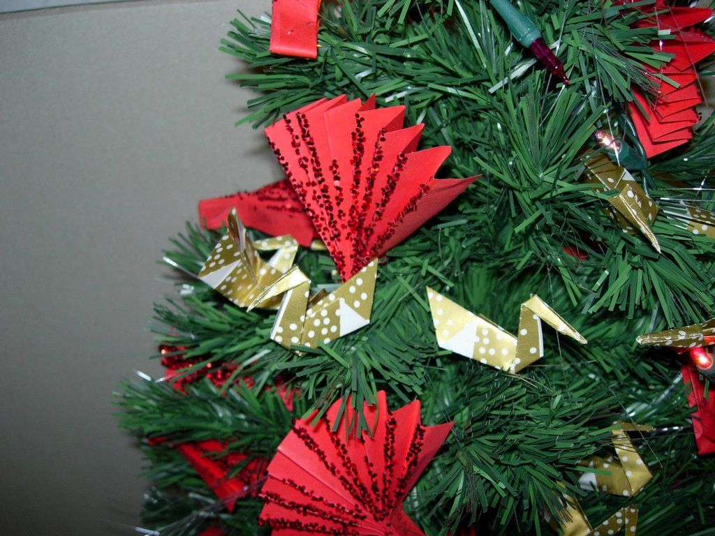 Japanese Christmas Tree Decor Origami Christmas Tree Asian Christmas Trees Japanese Christmas