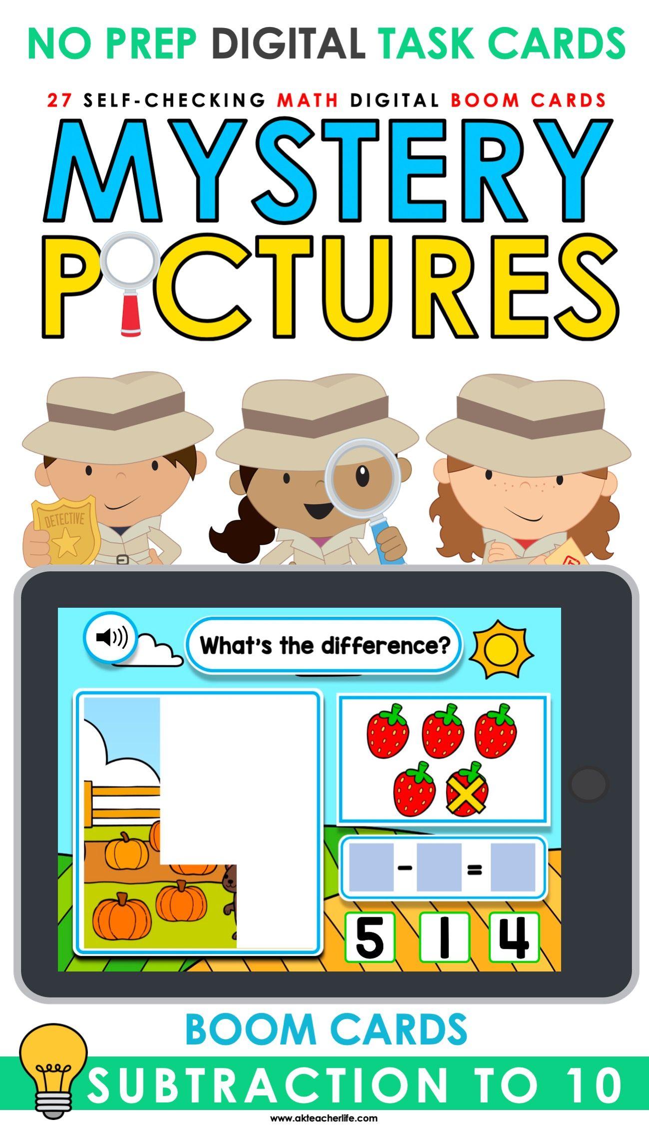 Subtraction To 10 Boom Cards Kindergarten In