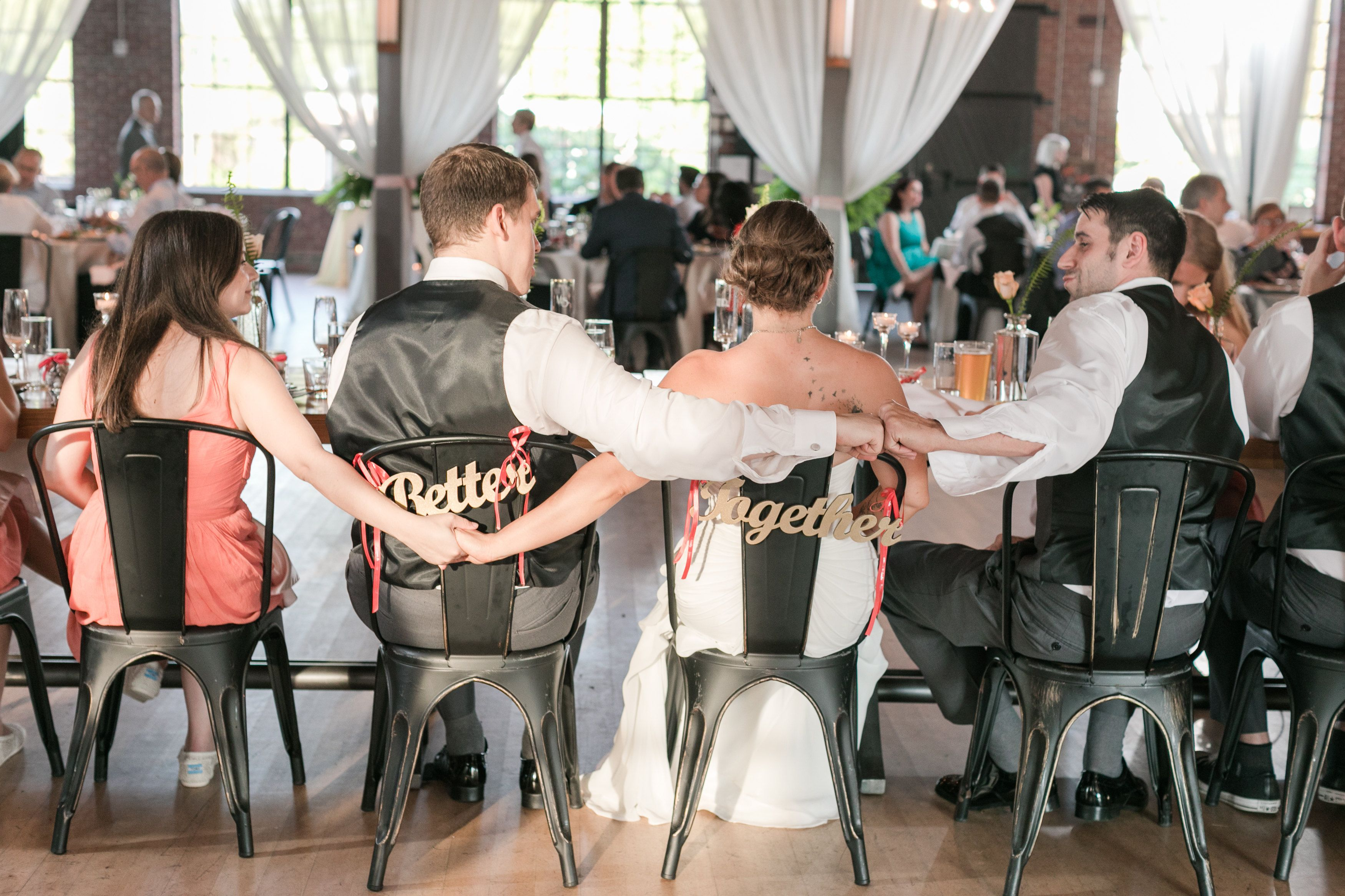 Wedding Chair Signs Better Together Hanging Signs For Bride Groom