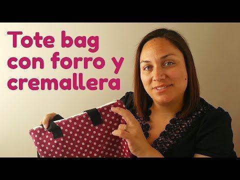 Tote Bag Con Forro Y Cremallera Blog Chita Lou Coser Bolsas De Asas Tutorial De Estuche De Cremallera Cremalleras