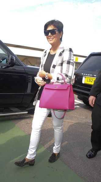 Kris Jenner - The Kardashians Arrive at Heathrow Airport