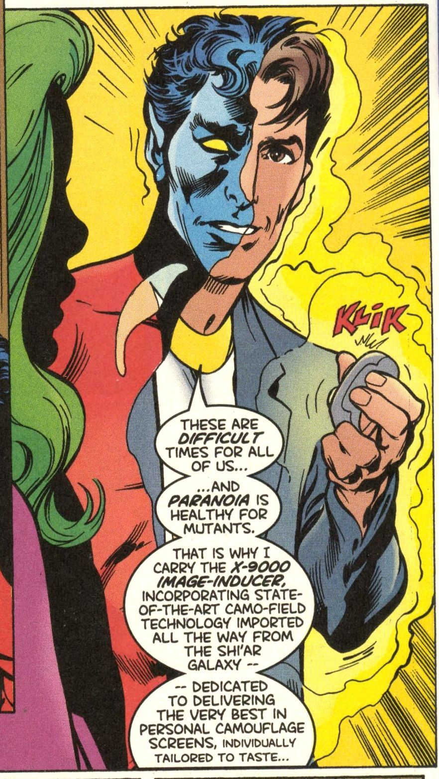 X 9000 Image Inducer From X Men 94 Nov 1999 Nightcrawler Superhero Comic Comic Book Panels