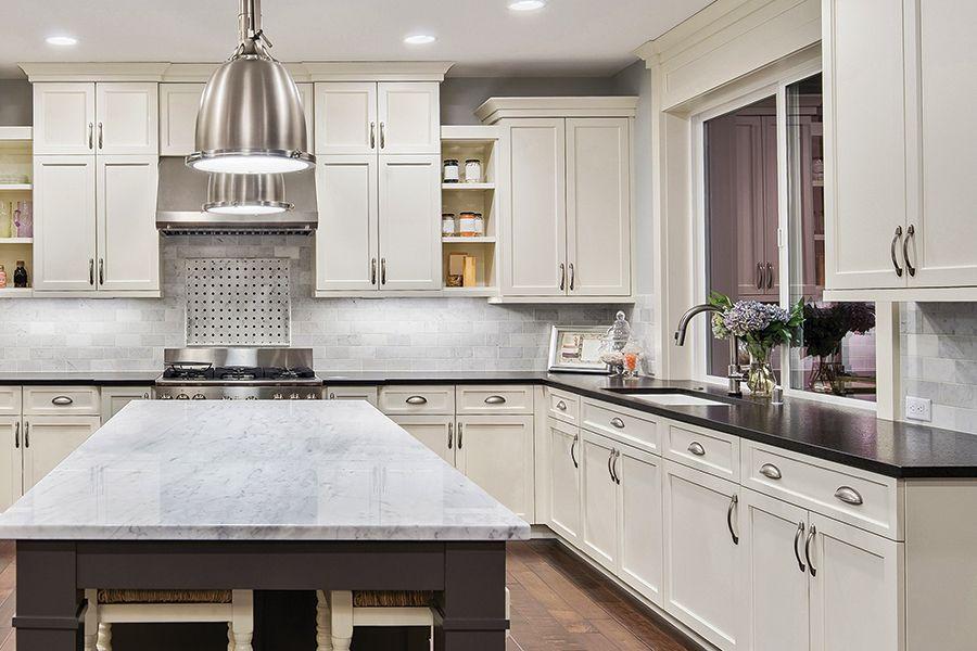 Arcadia Linen White Shaker Kitchen Cabinets Surplus Warehouse
