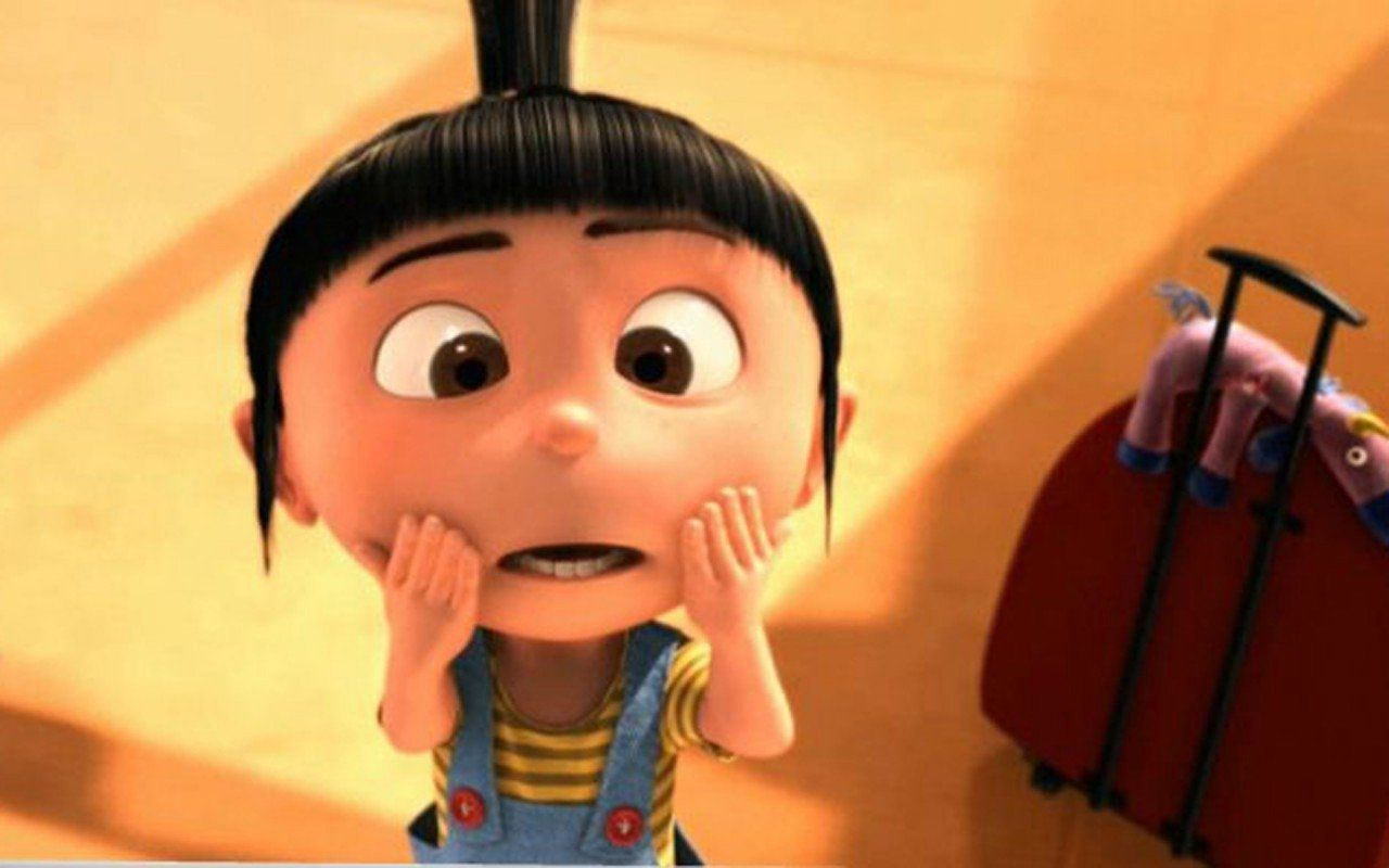 Agnes And Minions Wallpaper