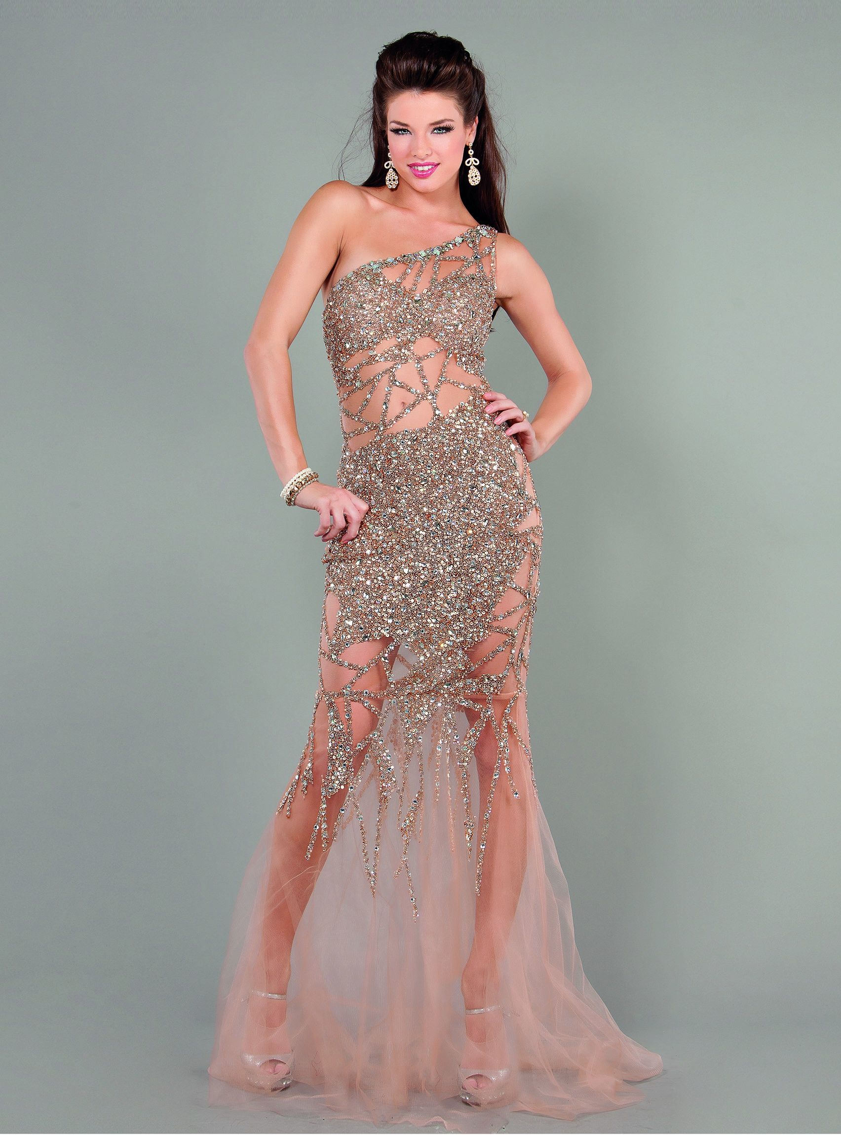 The cold shoulder trend is subtle yet sexy. #Jovani style 6395 http ...