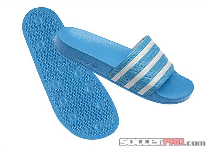 c183f35eb691de adidas adilette Sandal - Super Cyan with White... 29.99