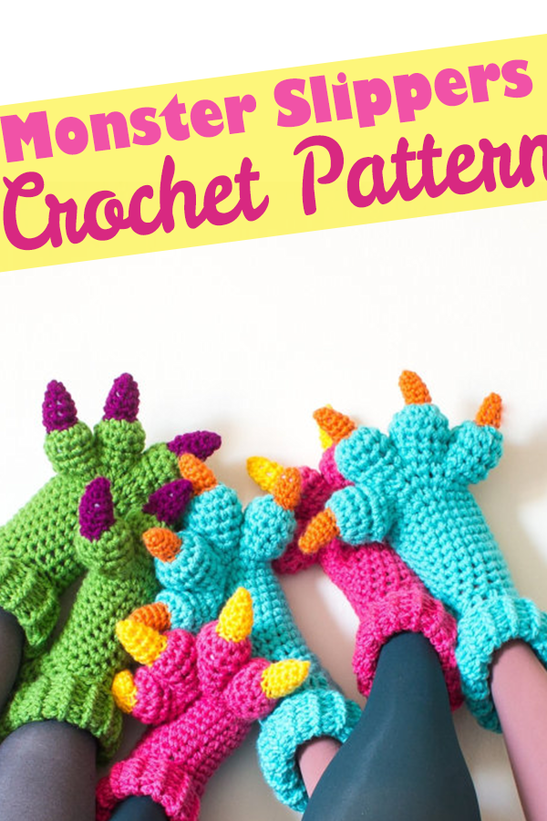 Create Your Own Monster Slippers With This Fun Crochet Pattern For