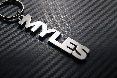 SYMBOLOGY Personalised Mens Name Keyring Key Chain Gift Boxed Rob