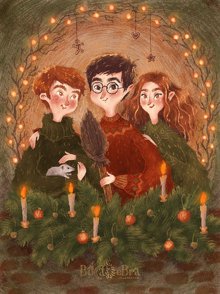 Garry Potter Fan Postcard On Behance Harry Potter Artwork Harry Potter Illustrations Harry Potter Wallpaper