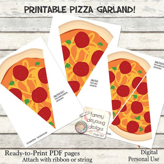 photo relating to Pizza Printable identified as Pizza Celebration Banner Garland Printable *Pizza Celebration Bunting
