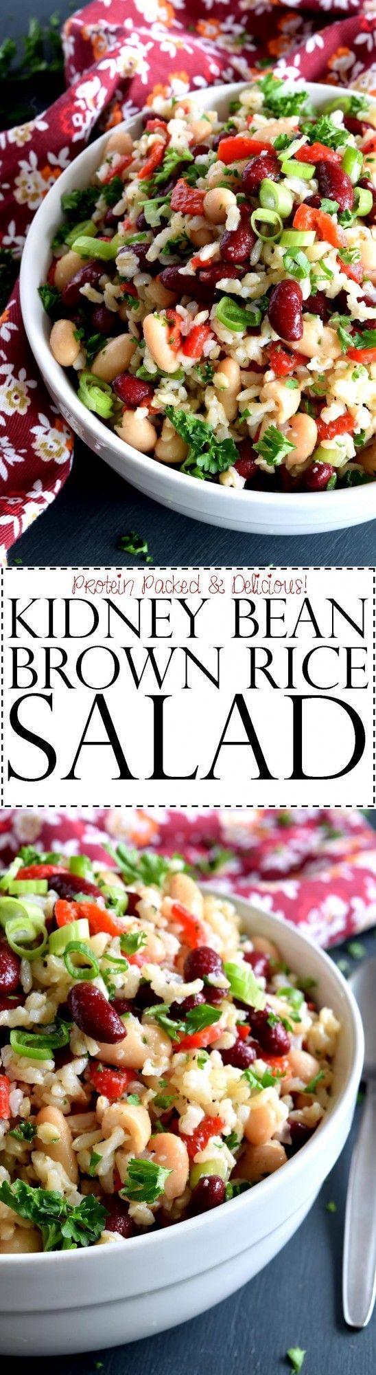 Kidney Bean Brown Rice Salad - A light, fresh taste with ...
