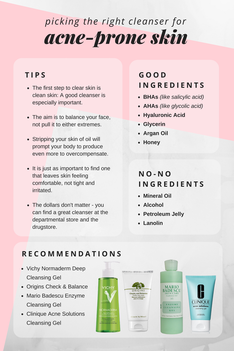 8 Charts That Will Help You Become A Skin Care Expert Best Acne Cleanser All Natural Skin Care Acne Prone Skin