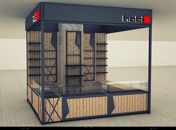 retail kiosk design for hobix fast food pinterest. Black Bedroom Furniture Sets. Home Design Ideas