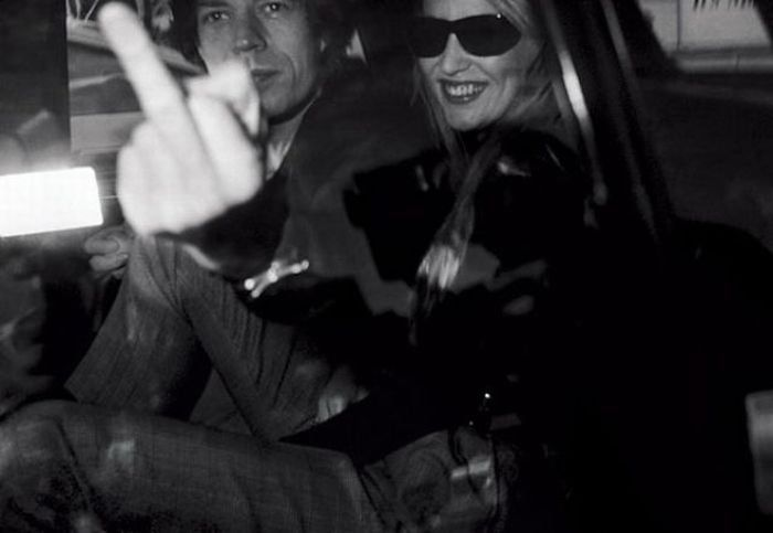 Jerry Hall y Mick Jagger