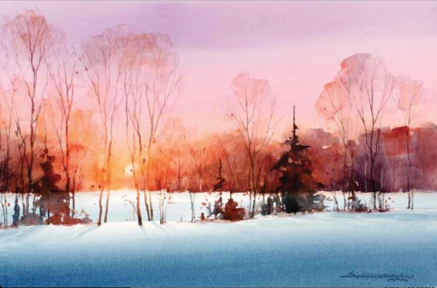 4 Free Watercolor Landscape Tutorials Watercolor Landscape