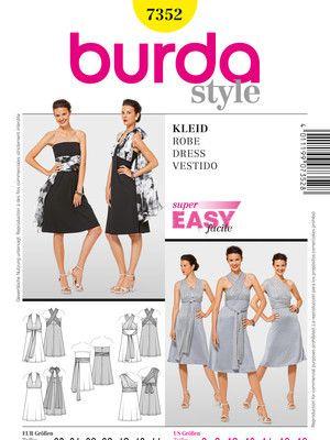 Schnittmuster: Kleider - verschiedene Träger-Varianten - Kleider ...