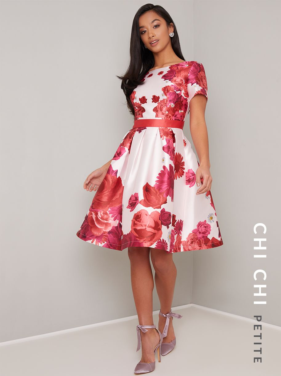 Chi Chi Petite Luna Dress Chichiclothing Com Dresses London Dresses Red Midi Dress