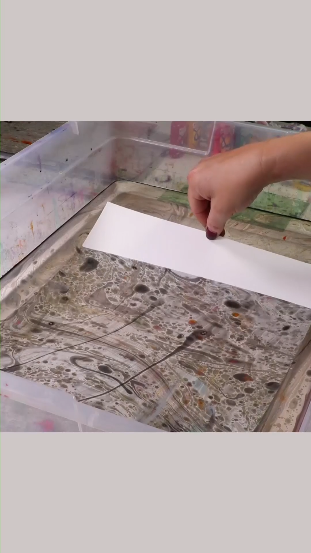 ONE INGREDIENT Paper Marbling Great for Kids