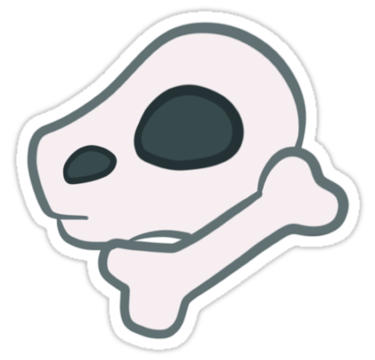 Animal Crossing Discovered Bones Sticker By Bullyart In 2020