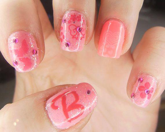 fotos de u as pintadas color rosa 50 ejemplos pintar u as pink nails pink nails. Black Bedroom Furniture Sets. Home Design Ideas