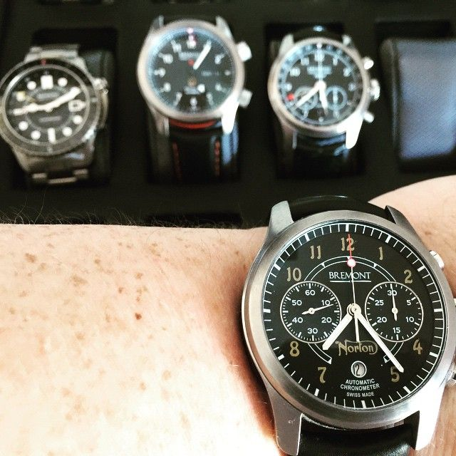 The #Bremont Norton one of a few great choices for the day. #fb by gmsmith21