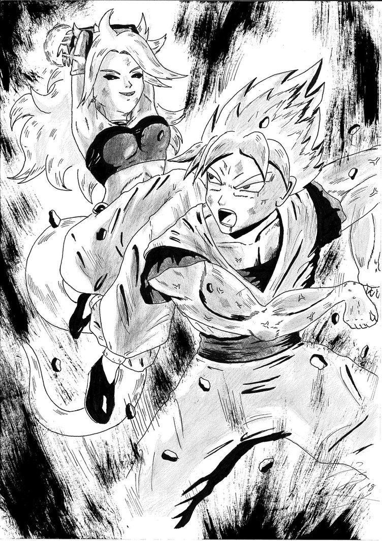 Majin Androide 21 vs Goku | Androide 21 | Pinterest | Goku and ...
