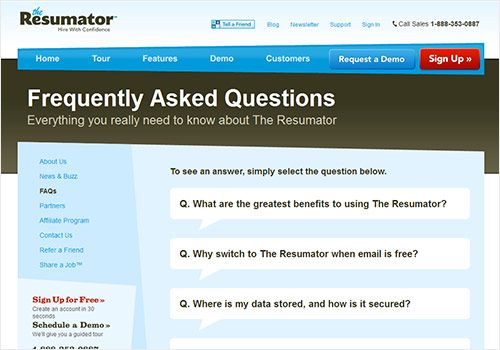 Ensuring an Effective User Experience on Your FAQ Page - the resumator