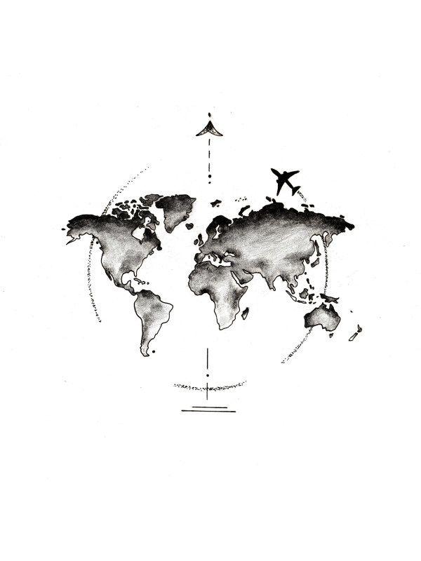 Mens Global Aircraft Short Sleeve T-shirt