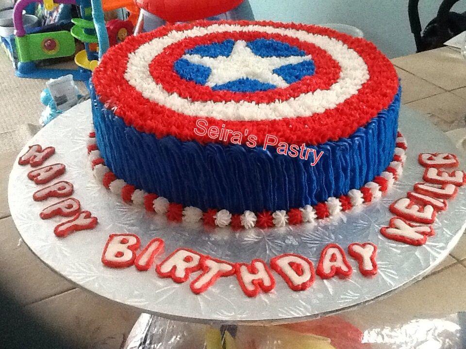 Captain America Cake Captain America Birthday Cake Avengers