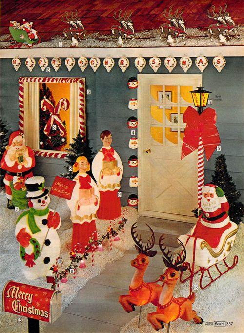 Sears Vintage Catalog Pic Outdoor Christmas Decorations Retro Christmas Decorations Vintage Christmas Decorations