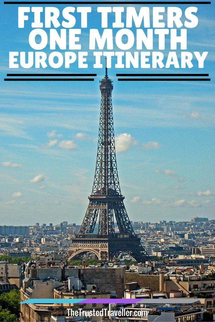 First timers one month europe itinerary backpacking for Places to stay near eiffel tower