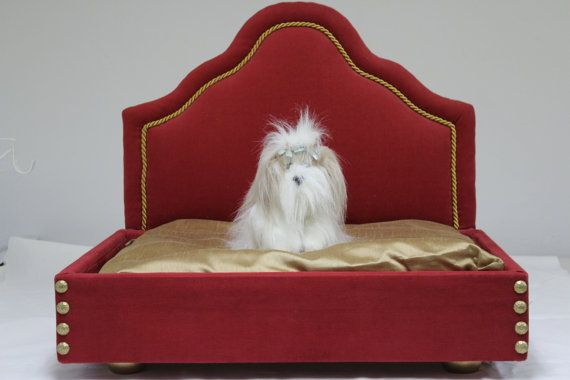 Handcrafted Upholstered Pet Bed  Custom Made to by SRdesignhome, $325.00