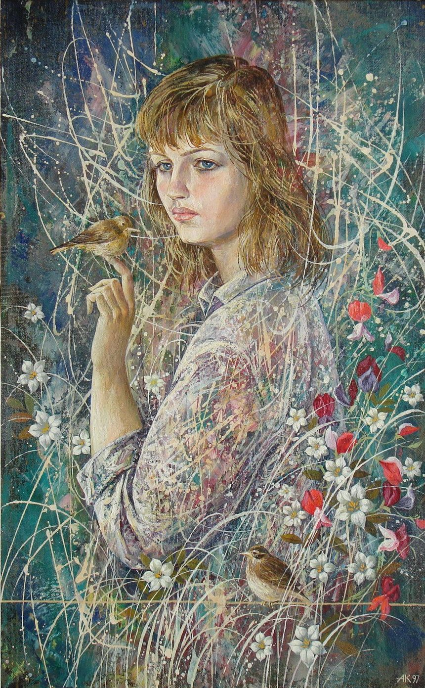 Painting by Anatoly Kontsub      Born 1949, is a famous Belarusian artist in painting and ceramics.