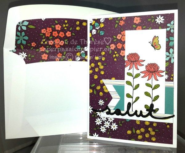 Flowering Fields DSP, Fleurs des champs, Flowering Fields stamps, Stampin' UP!,SAB 2016, Sale-a-bration 2016, #paperpassionpapier, #stampinup