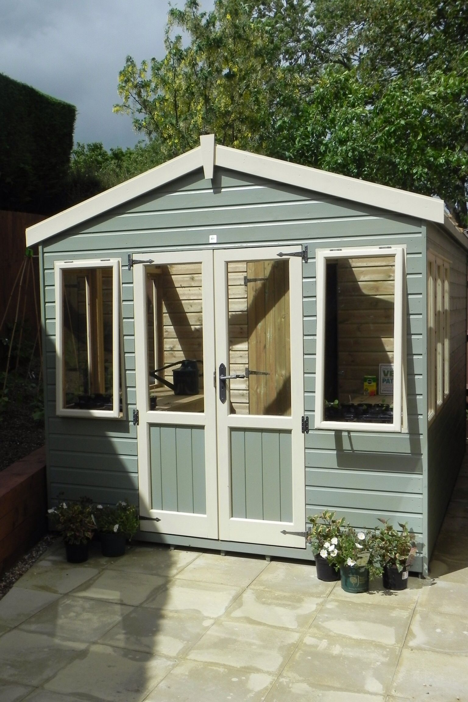 Bespoke Potting Shed painted in Ronseal Colours Painted