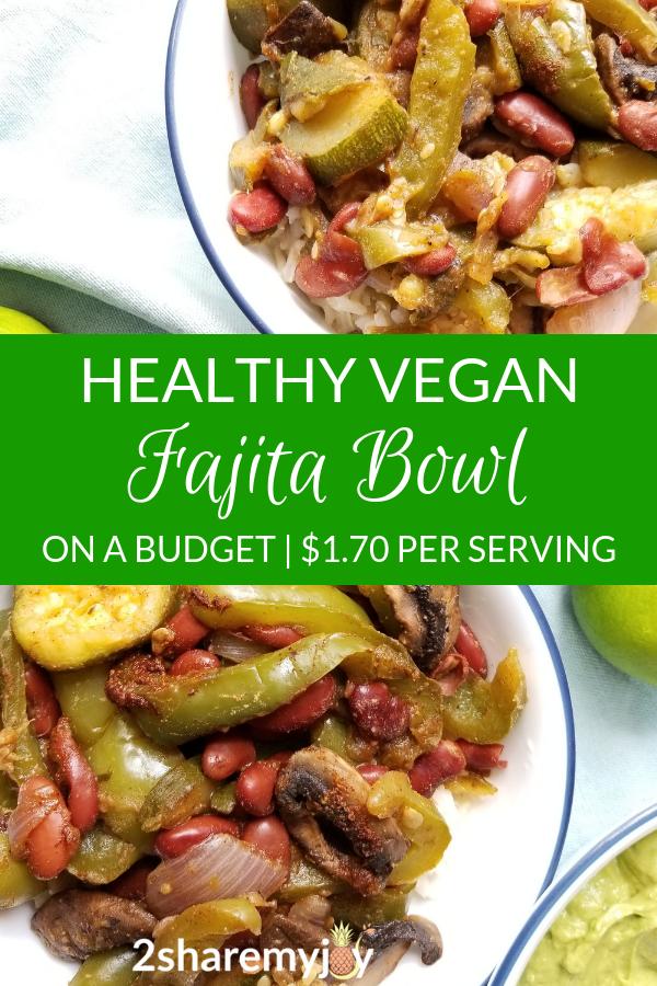 Vegan Fajita Rice Bowl Oil Free Gluten Free 21 Day Fix