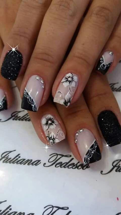 Uñas Oscuras Uñas Oscuras Nail Designs Nails Y Nail Art