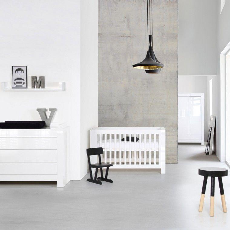 babykamer alaska wit hoogglans - ledikant - commode | babykamer, Deco ideeën