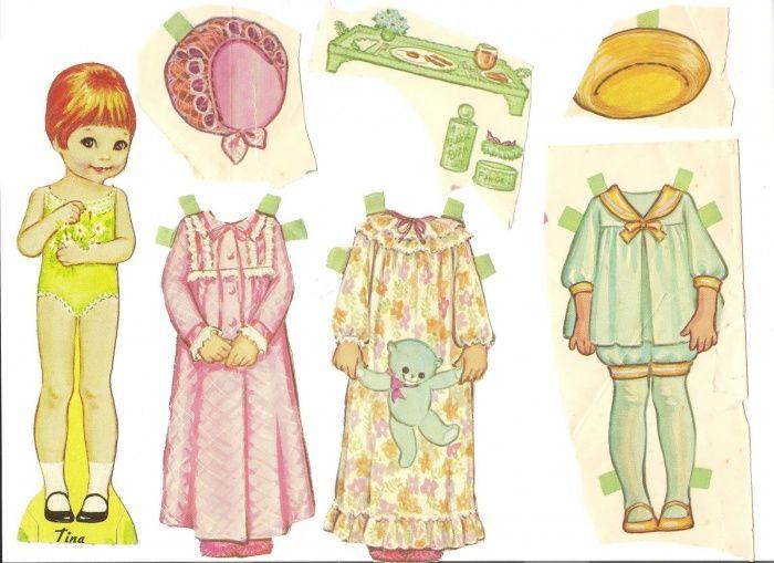 Бумажные большие куклы с одеждой фото
