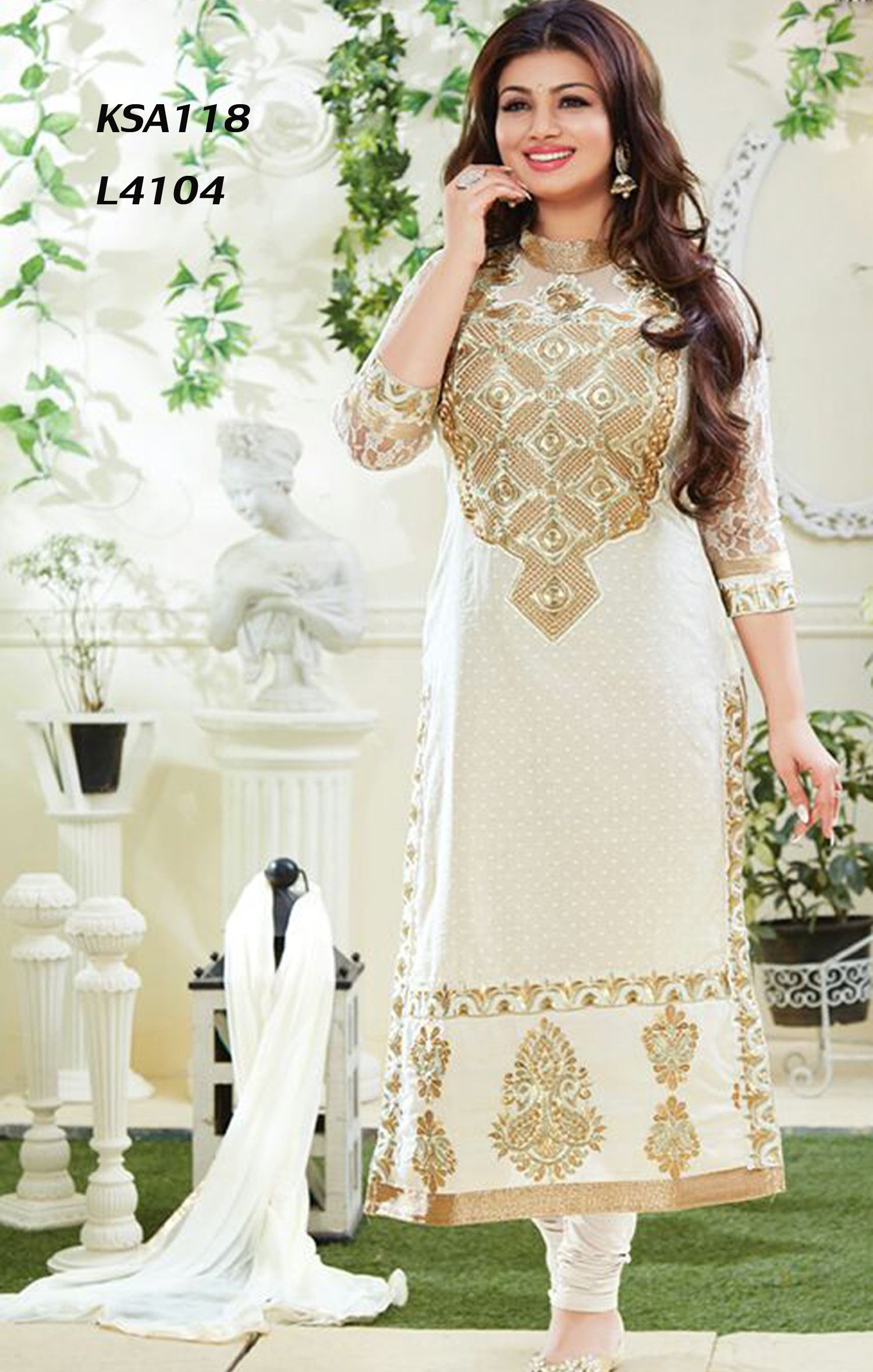 King sales new arrival white embroidery cotton straight cut long