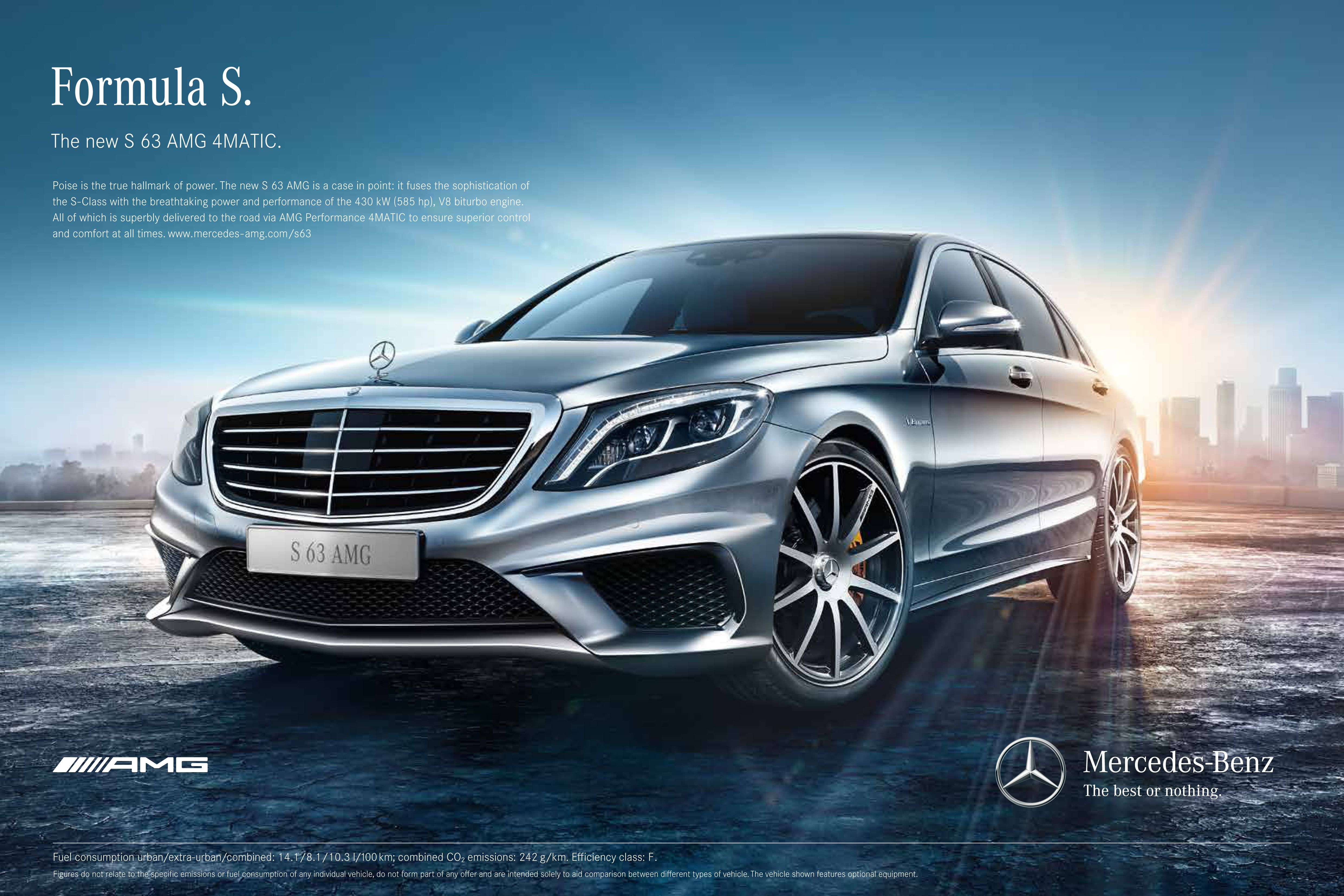 The s 63 amg provides both luxury and performance take a for Mercedes benz print ads
