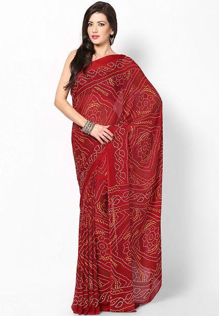 a6a586c003b8e Saree Market  Bandhani Saree Red Colour