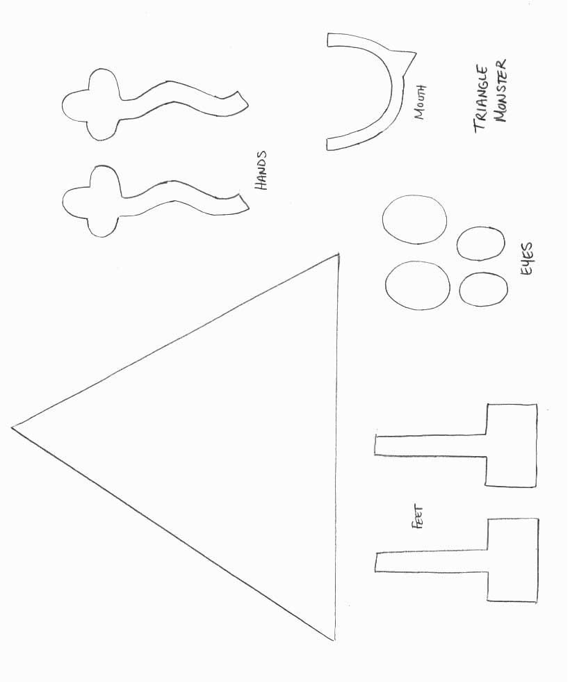 Monster craft template shapes crafts print your for Template monstre