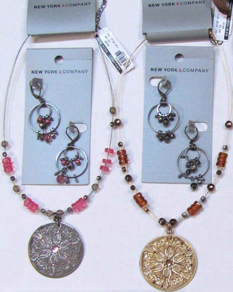 4 New York & Company Necklaces Earrings Wholesale Lot ...