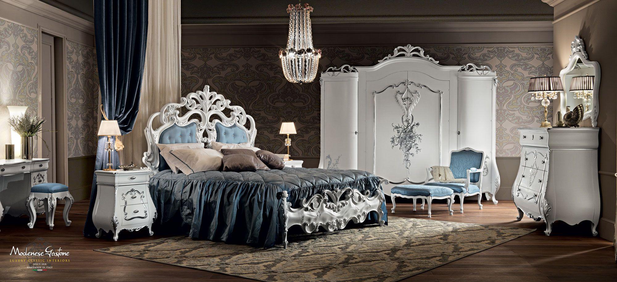 Italian Furniture - Black Lacquer Italian Bedroom Furniture