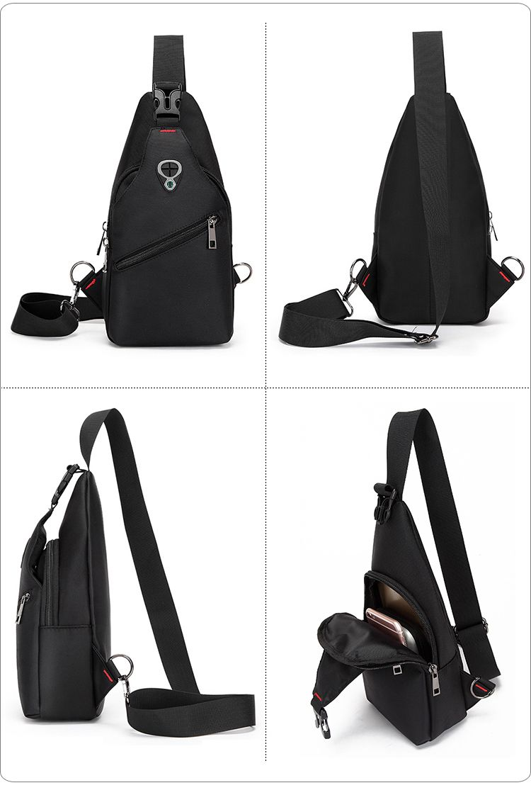New Male Chest Bag Fashion Leisure Waterproof Man Oxford Cloth Korea Style  Messenger Shoulder Bag 5cfbed2cb0671
