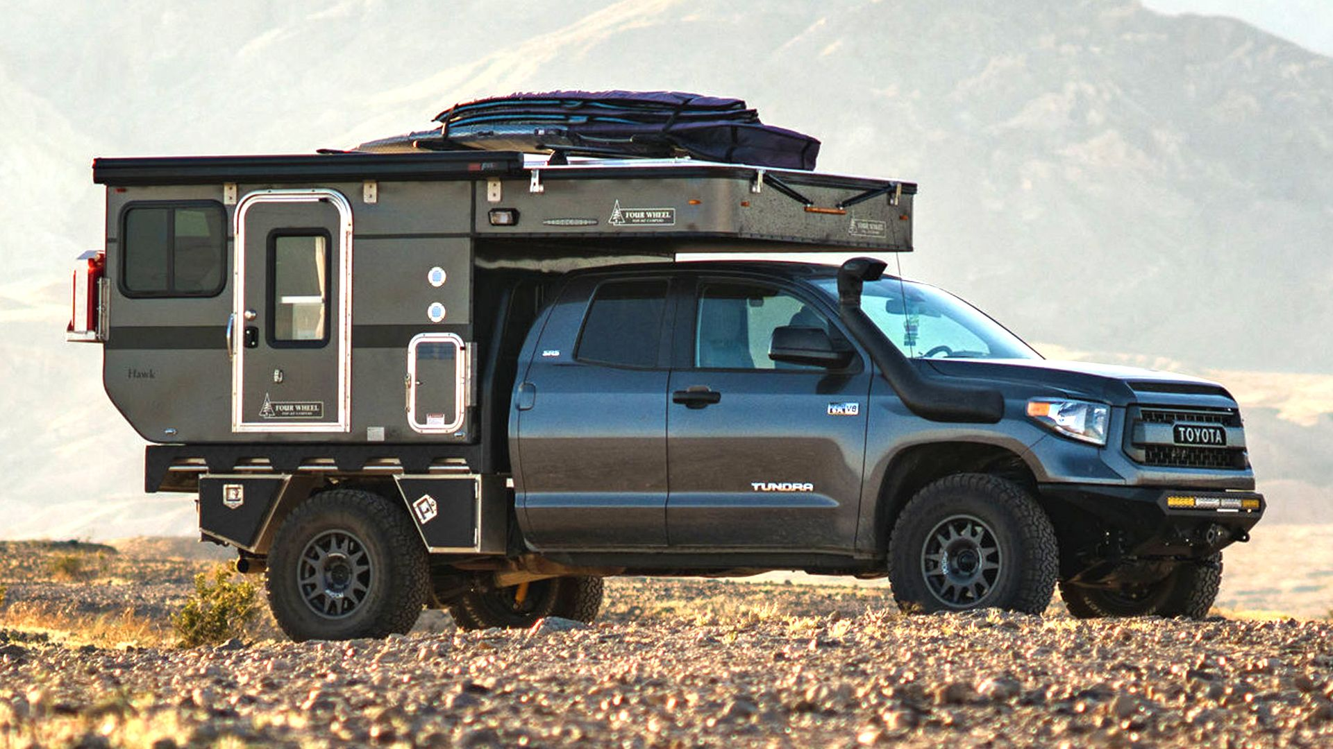 Toyota Tundra Camper With Pop Up Top Is The Ultimate Off