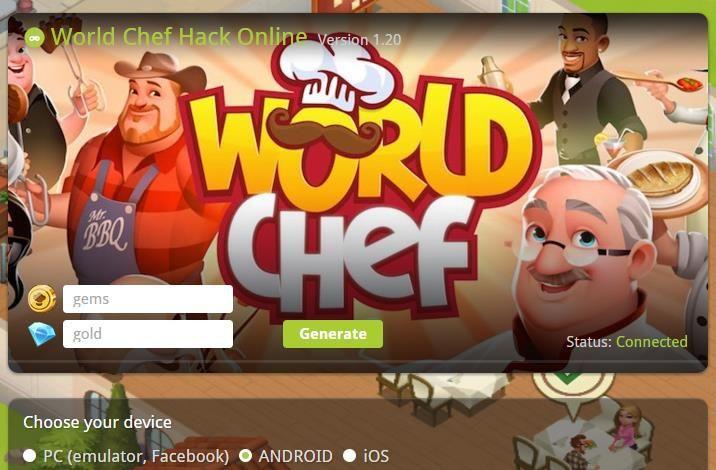 World Chef gems hack mod apk and tricks World chef