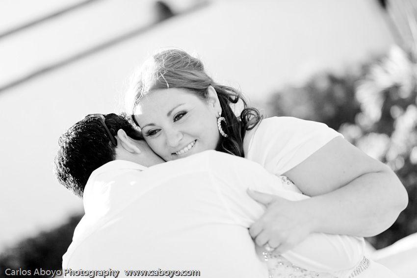 Sweet look in Hilary's eye on her wedding with Frank at Villa Grande Pedregal!  #blackandwhitephotography #Destinationwedding #Cabo