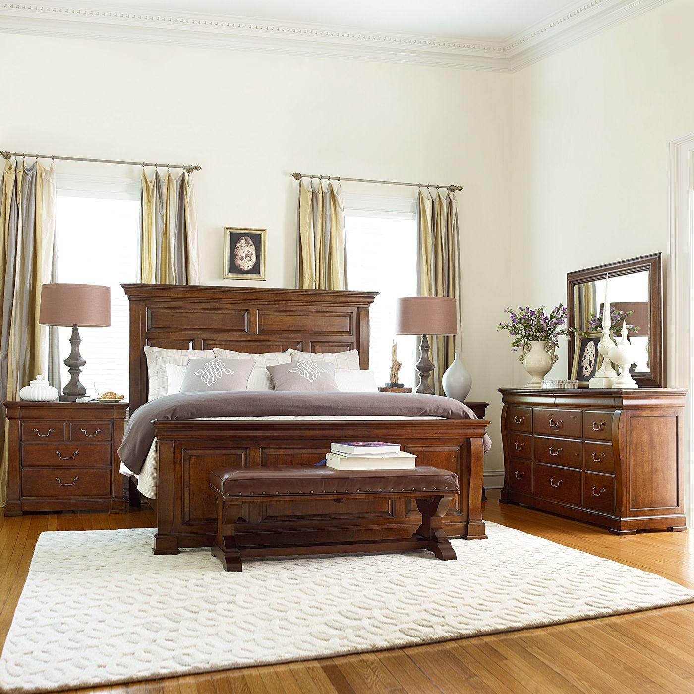 American Drew Laurel Springs High Meadows Panel Bed
